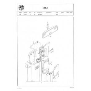 ZESTAW CZĘŚCI DO NAPRAWY LUSTEREK VW CRAFTER 06-> ORYG. VW NOWY